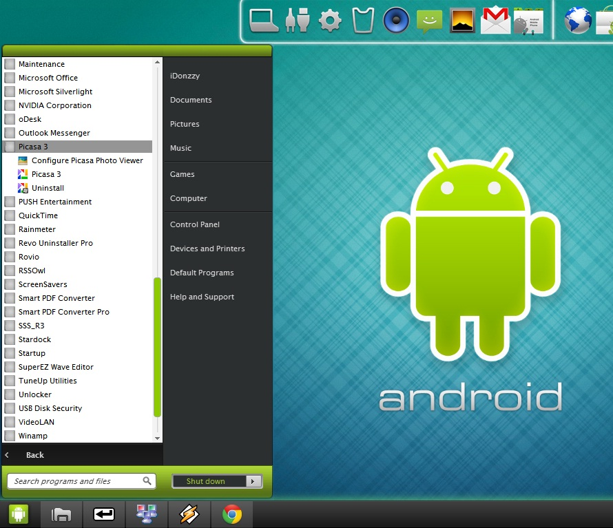 Transform Windows 7 to Android | Blog It? Get It!